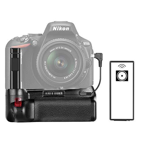 Impugnatura portabatteria professionale verticale funziona con Batteria Ricaricabile EN EL14a per Fotocamera Nikon D5600 & D5500 DSLR