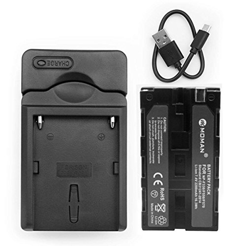 Moman NP F550 batteria e caricabatterie per Videocamera Sony NP F330 NP F530 NP F570
