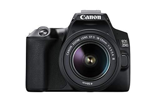 Canon EOS 250D con sensore APS C 4K Full HD DIGIC 8 WLAN con obiettivo EF S 18 55 f/3.5 5.6 III