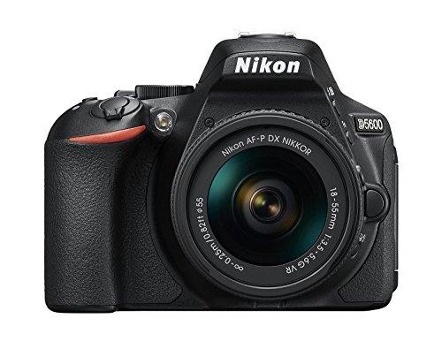 Nikon D5600 Fotocamera Reflex Digitale con Obiettivo AF P DX NIKKOR 18 55 VR 242 Megapixel LCD Touchscreen ad Angolazione Variabile