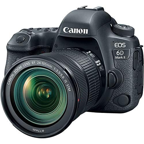 Canon EOS 6D Mark II Fotocamera Digitale Reflex con Obiettivo EF 24 105 f/3.5 5.6 IS STM
